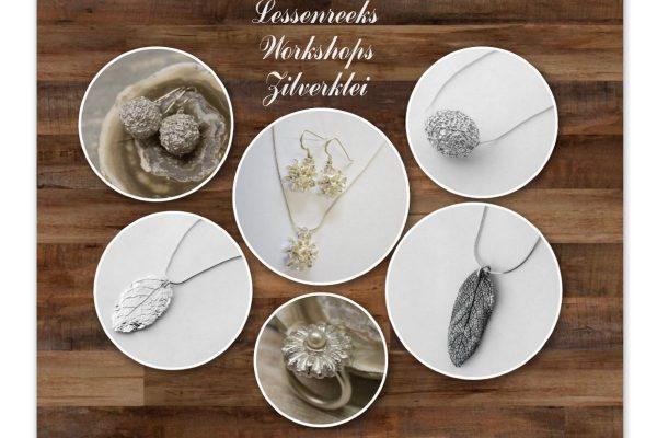 juwelen te maken tijdens de lessenreeks workshop zilverklei